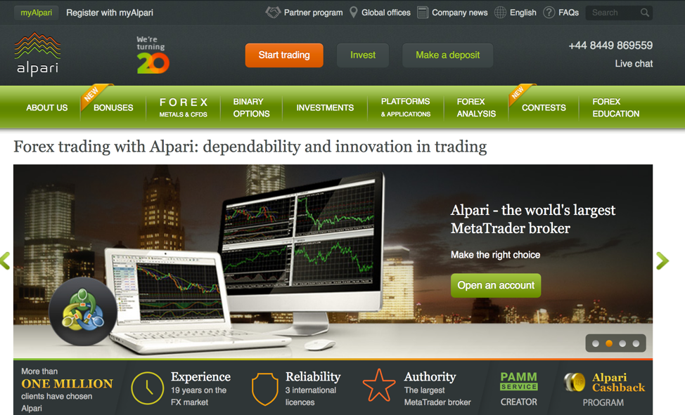 Alpari forex trading